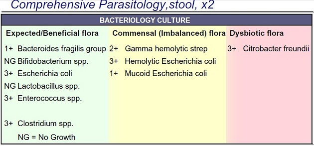 Stool Parasitory Result